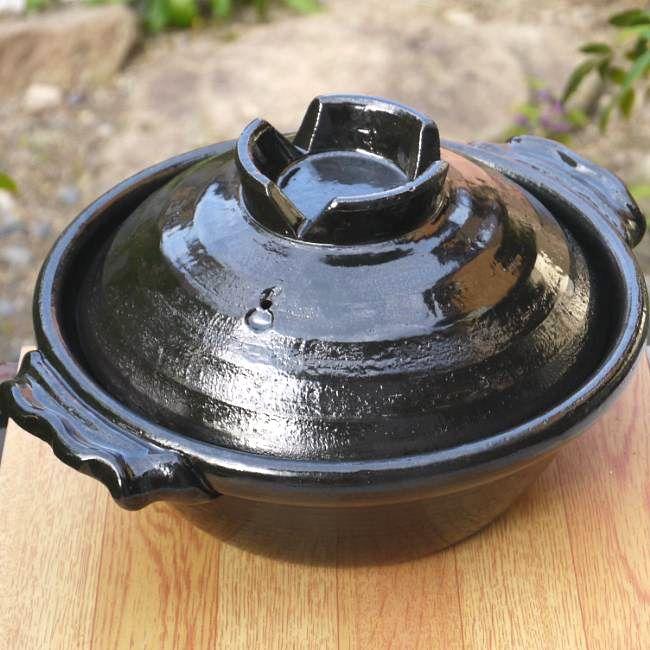 【京焼 清水焼】土鍋 赤富士 七福神