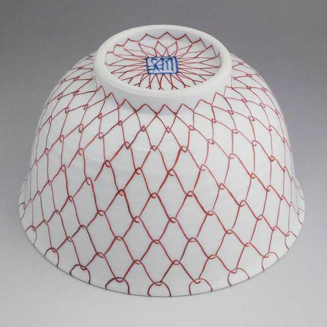 赤アミ菓子鉢