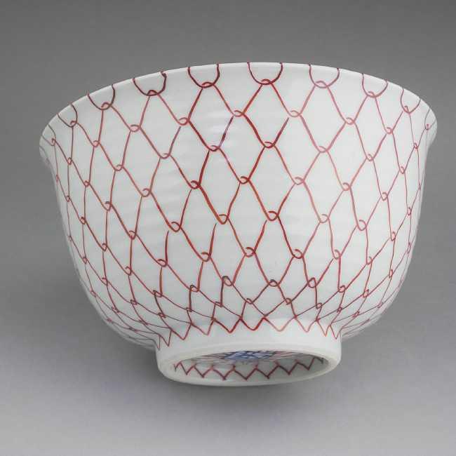 赤アミ菓子鉢 (5寸のサイズ)