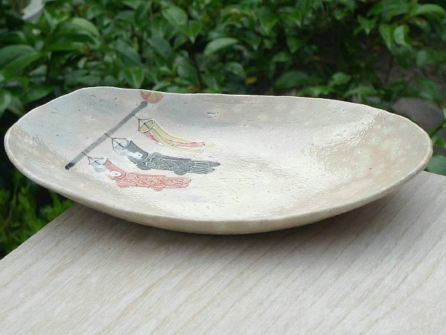【京焼 清水焼】抹茶碗 こいのぼり
