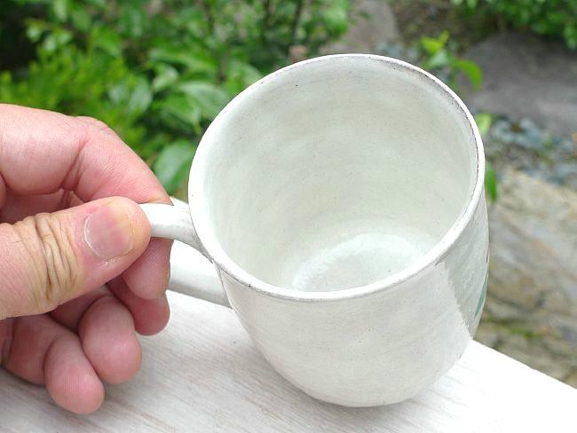 粉引あじさいマグカップ