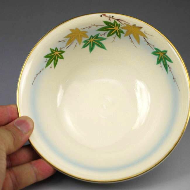 【京焼 清水焼】平茶碗 青楓 善昇