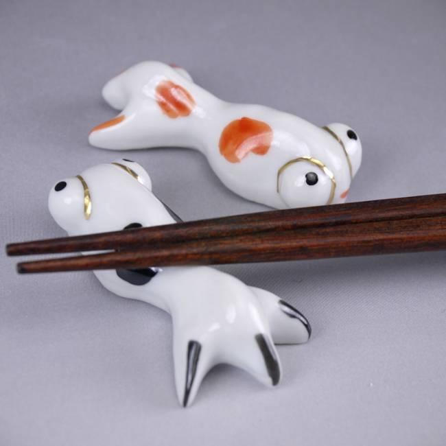京焼清水焼の金魚の箸置き