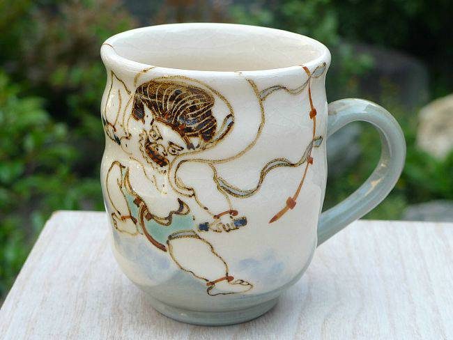 京焼清水焼 雷神のマグカップ