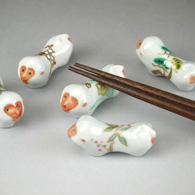 【京焼 清水焼】桜箸置き 清水焼
