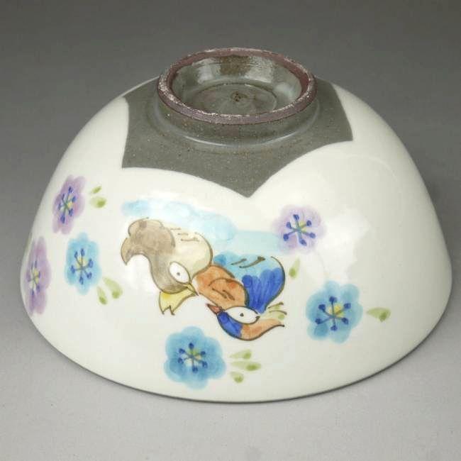 京焼清水焼粉引おしどり夫婦茶碗と夫婦湯呑