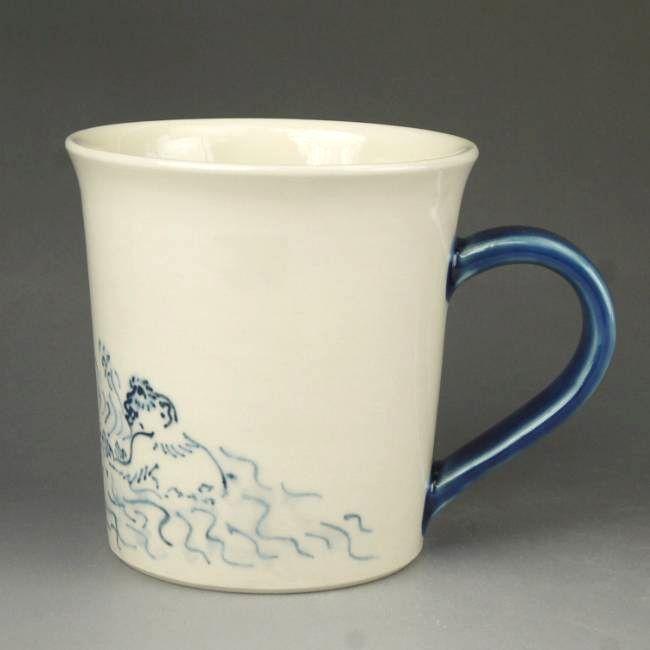 高山寺鳥獣戯画切立マグカップ