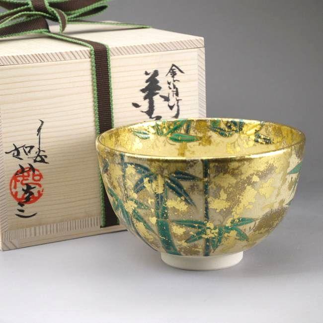 【京焼 清水焼】抹茶碗つばきの花