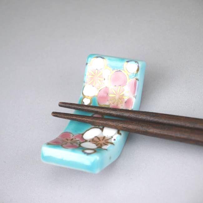 【京焼 清水焼】梅こよみ箸置き