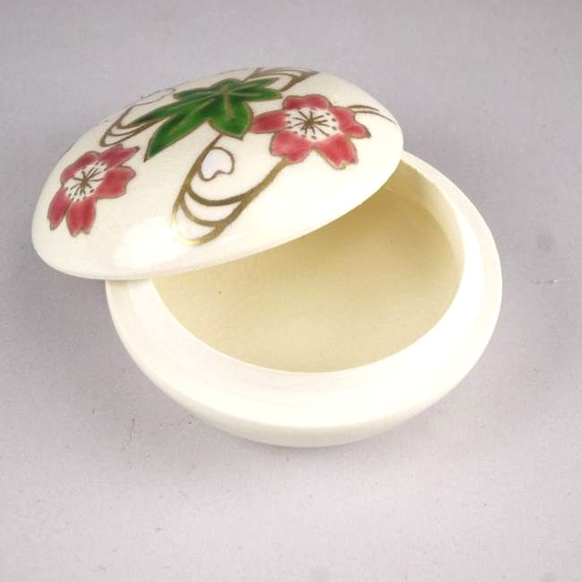 清水焼京焼の抹茶碗わび助椿