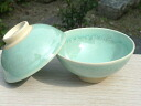 Shimizu yaki glass Oribe couple rice bowl