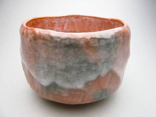 【京焼清水焼】赤茶碗 手捻り 特上 昭楽【送料無料】【茶筅・茶杓付】