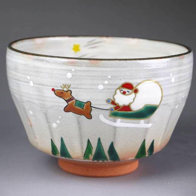 【京焼 清水焼】抹茶碗クリスマス