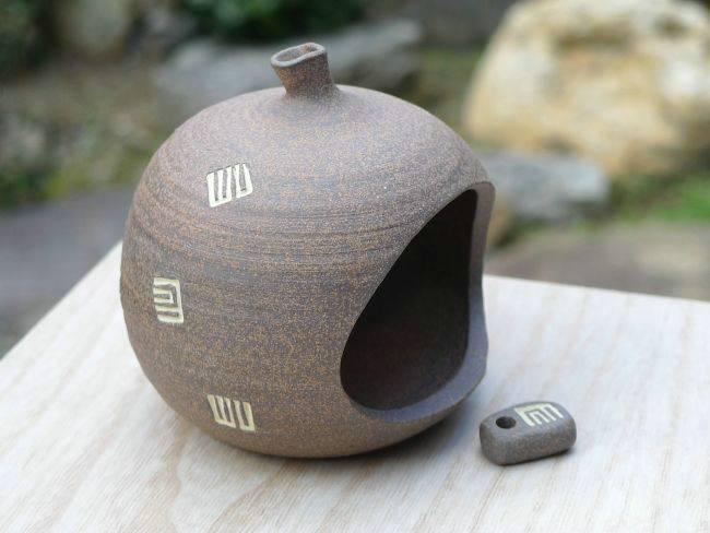 【京焼 清水焼】焼締源氏香炉