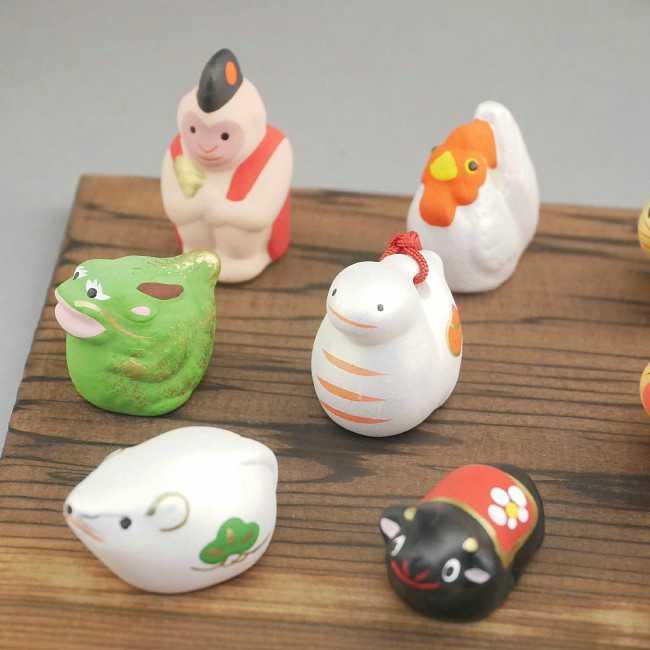 【京焼 清水焼】豆干支十二支セット