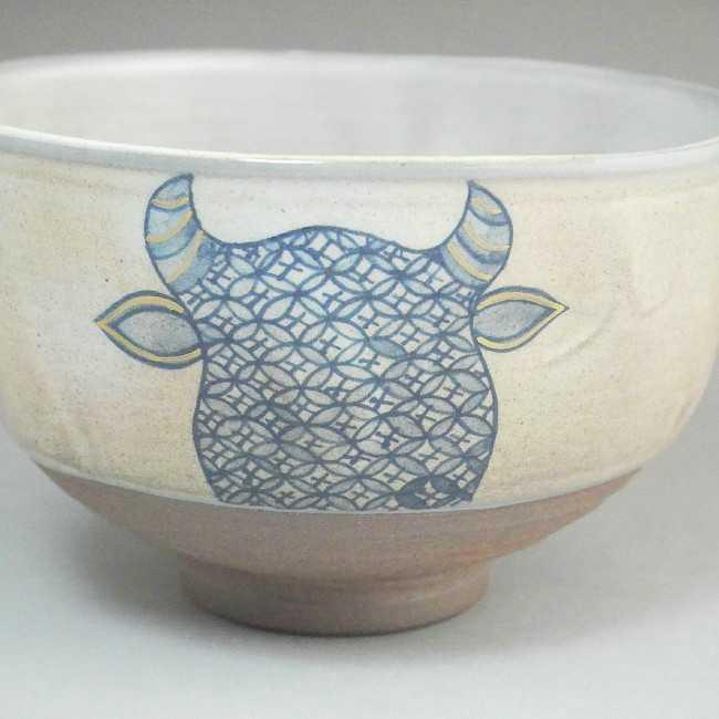 【京焼 清水焼】抹茶碗 cowcow