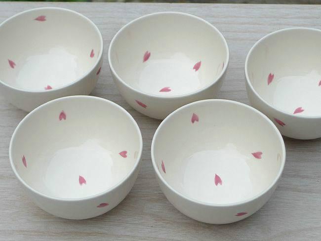 桜花びら 汲出碗