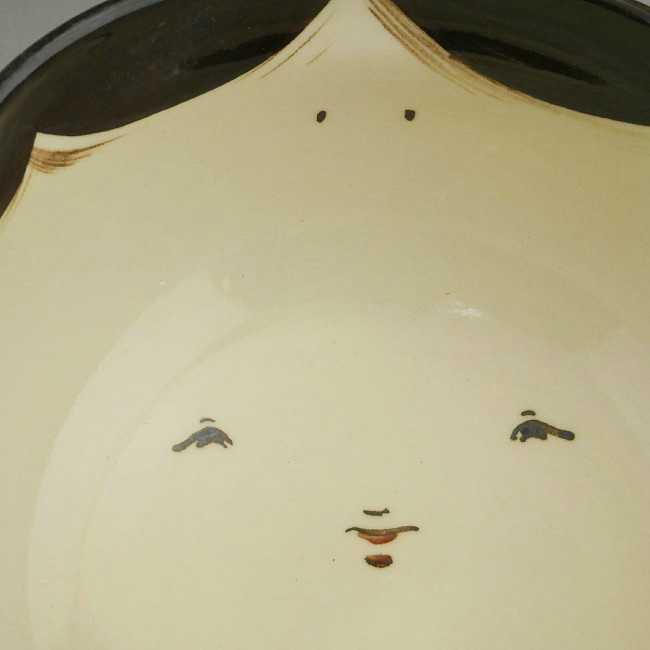 【京焼 清水焼】お福 菓子鉢 与し三 化粧箱