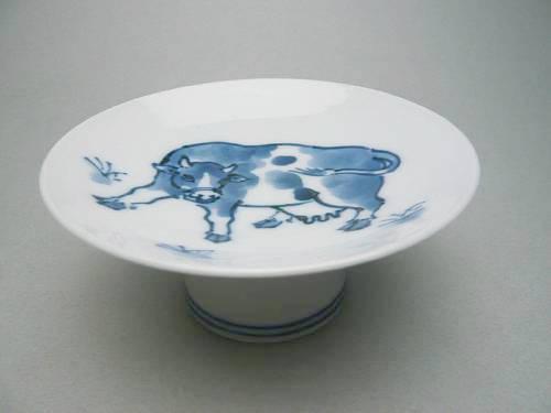 【京焼 清水焼】干支丑 大盃 2009