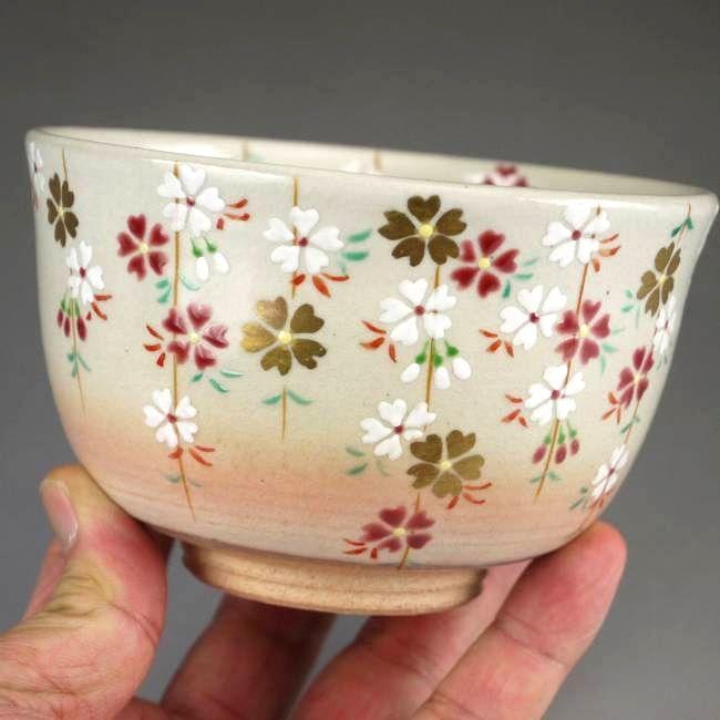 【京焼 清水焼】抹茶碗 桜