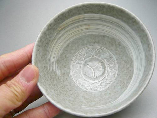 【京焼 清水焼】三島茶碗 与し三