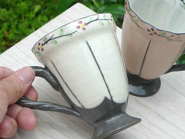 【京焼 清水焼】マグカップ・ミルクカップ  加春
