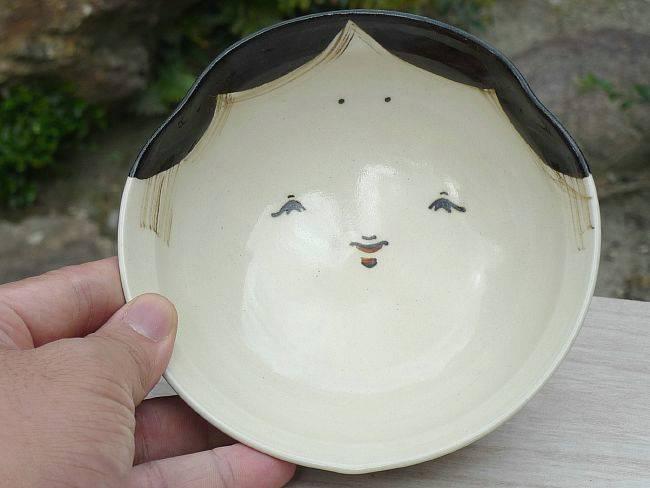 清水焼お福さんご飯茶碗