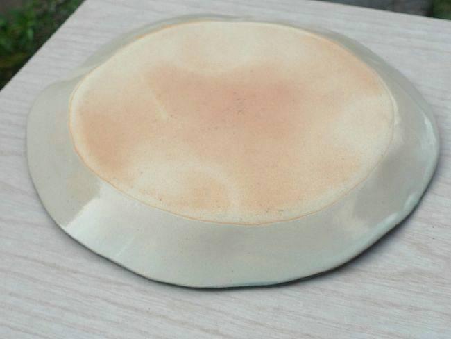 清水焼京焼の若手陶芸家林奈緒子作タタラ皿なまず