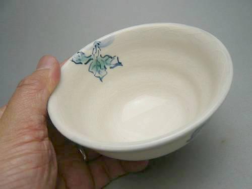 清水焼京焼の縁起の良いかぶの画が描かれたご飯茶碗