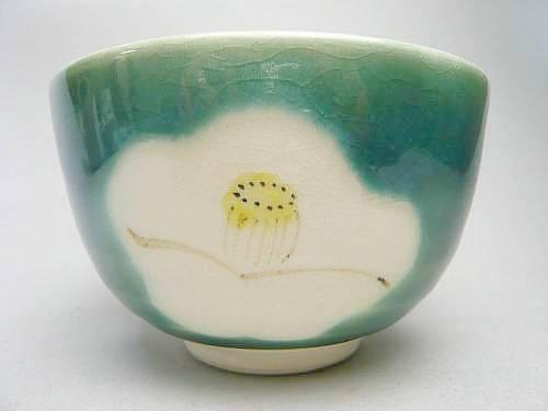 清水焼京焼の抹茶碗 わび助椿