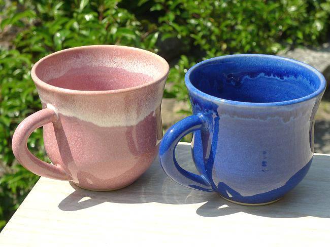清水焼ペアマグカップ