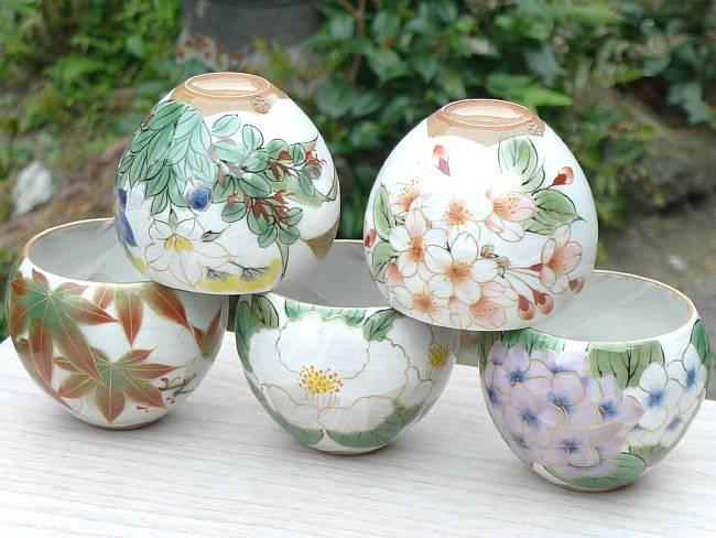 彫三島マグカップ 花月