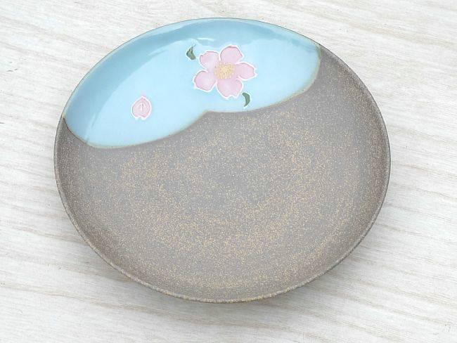【京焼 清水焼】焼締皿