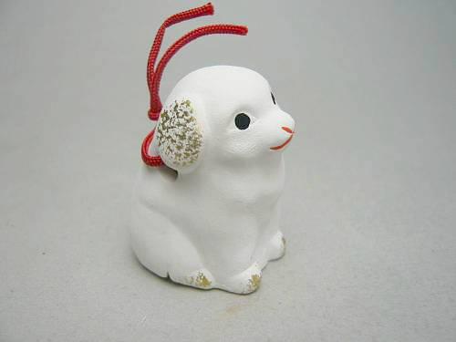 京陶人形 錦染の豆干支 洋犬