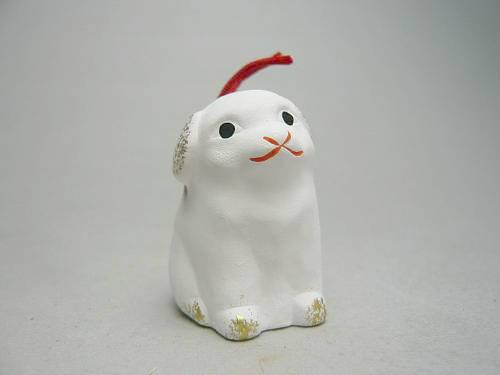 京陶人形 錦染の豆干支洋犬
