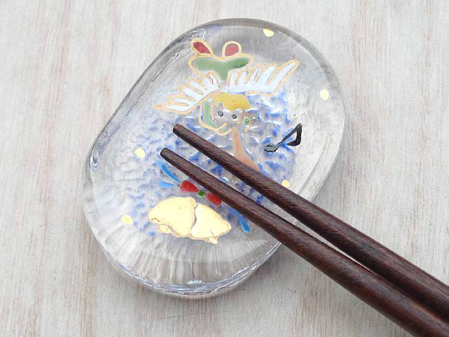 【京焼 清水焼】箸置きサンタクロース