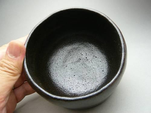 昭楽作黒楽茶碗 銘 喝食