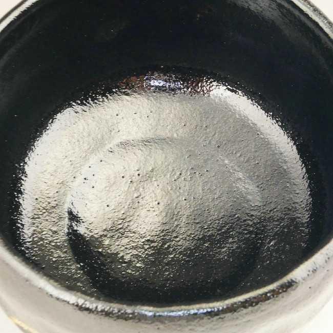 黒楽抹茶碗 松楽 【送料無料】【茶筅・茶杓付】