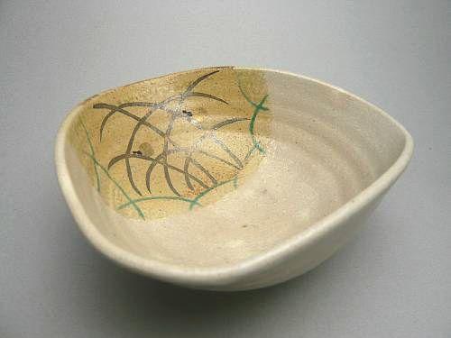【京焼 清水焼】川鵜変形夏茶碗