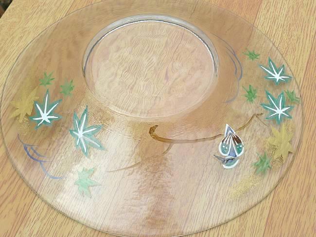 京焼清水焼七寸ガラス浅鉢