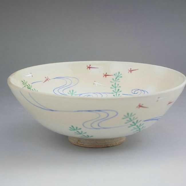 京焼清水焼 夏茶碗 メダカ