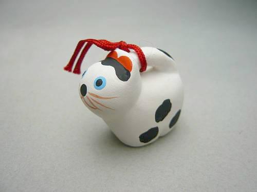 京陶人形 錦染の豆干支 犬