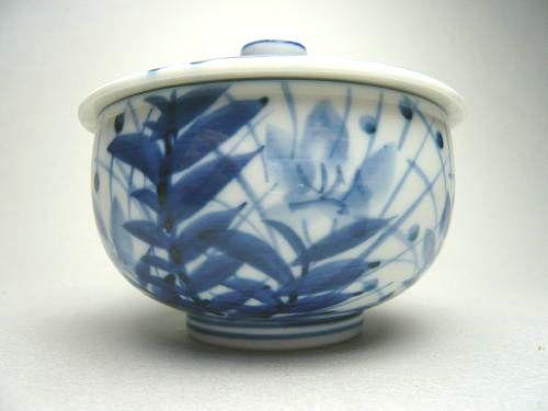 清水焼蓋付き汲出碗