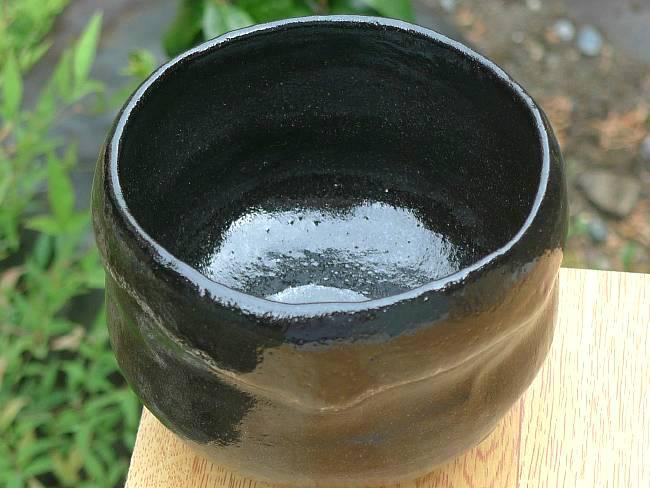 【京焼清水焼】黒茶碗 手捻り 特上 昭楽【送料無料】
