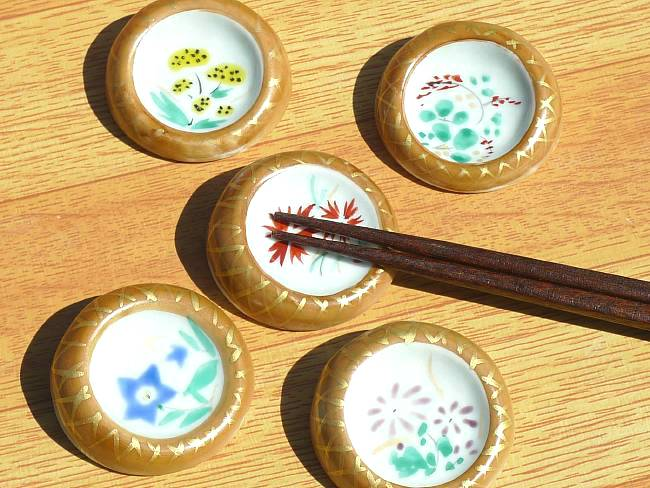 【京焼 清水焼】桜箸置き