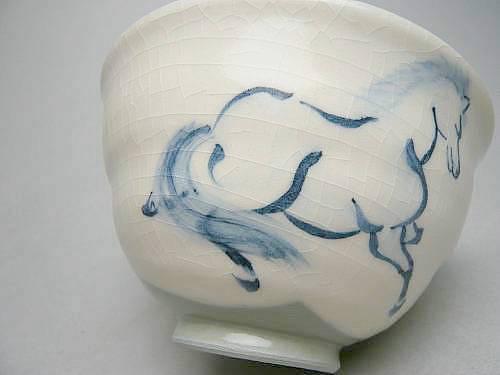 清水焼京焼の左馬のご飯茶碗