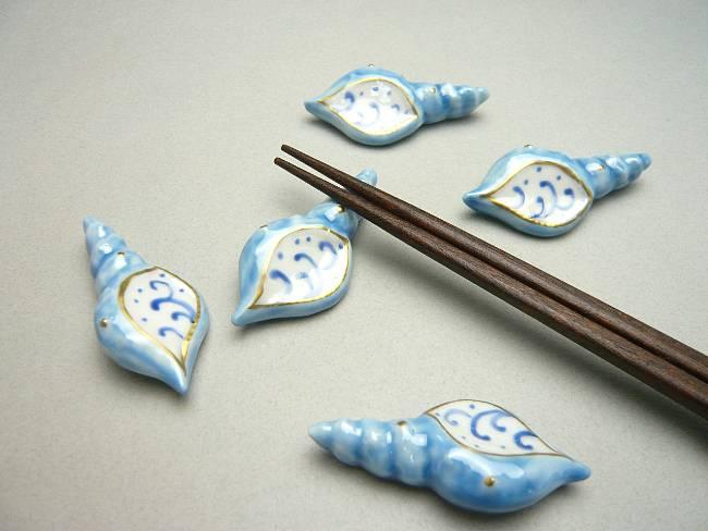 【京焼 清水焼】貝殻箸置き
