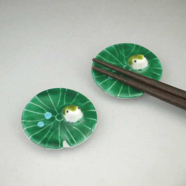 【京焼 清水焼】かえる箸置き