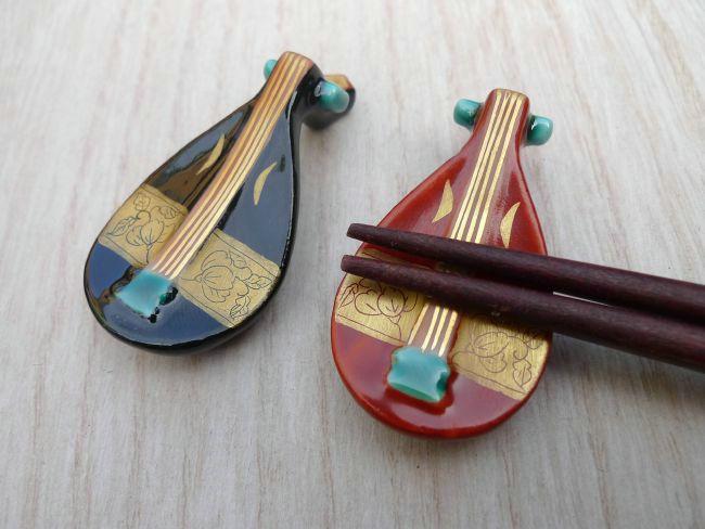 【京焼 清水焼】琵琶箸置き
