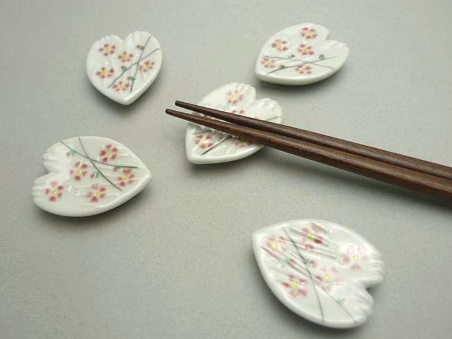 【京焼 清水焼】桜木箸置き 清水焼